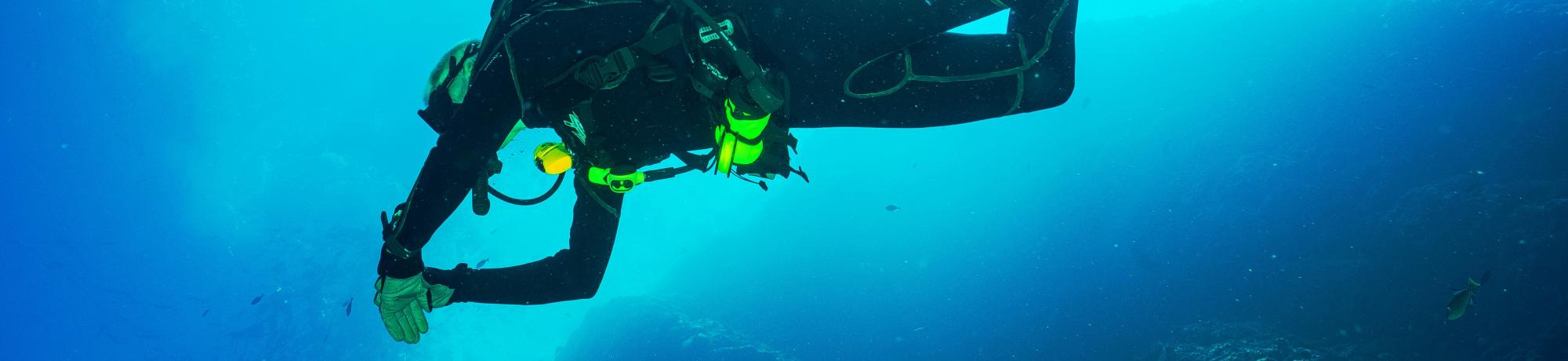 Scuba diver in the open water